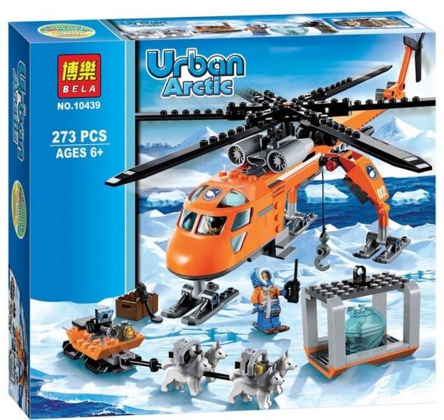 Конструктор Bela 10439 Urban Artic Арктический вертолёт 273 детали