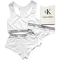 Женский комплект тройка с шортами Calvin Klein белый