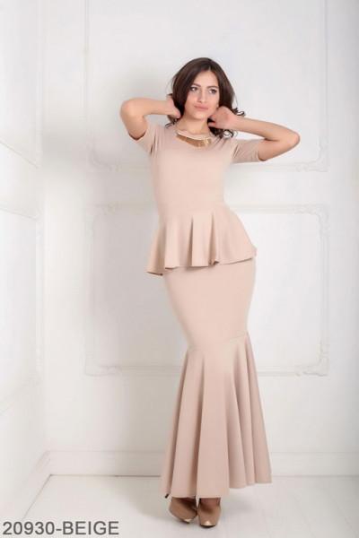 Женское платье Amalia 20930-BEIGE