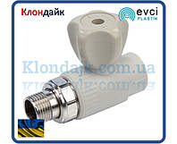 Evci полипропиленовый кран батарейный прямой 20х1/2
