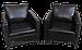 Диван кожаный черный и кресла из кожи, фото 4