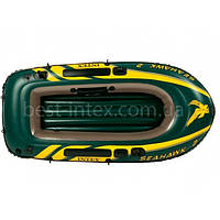 Надувная лодка гребная Intex 68346 (236х114x41 см.) Seahawk 2, фото 1