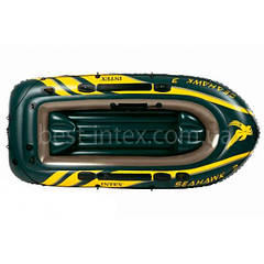 Надувная лодка гребная трехместная Intex 68349 (295x137x43 см.) Seahawk 3