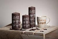 Декоративная свеча RAK - Caffe Frappe Slupek 80/150 - темная
