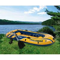 Надувная лодка трехместная Intex 68370 (295х137х43 см.) Challenger 3