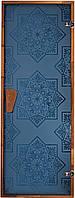 "Стеклянная дверь для хаммама Tesli ""Сезам Blue"" 67,8x188"