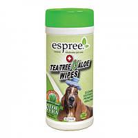 Влажные салфетки с маслом чайного дерева и алоэ для дизинфекции Espree Tea Tree&Aloe Wipes, 50 шт