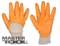 Mastertool Перчатки х/б трикотаж, неполное нитриловое покрытие, вязаный манжет(желтые), Арт.: 83-0405-В