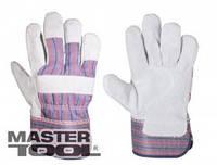 Mastertool Перчатки комбинированные из замши и ткани, цельная ладонь, Арт.: 83-0702