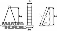 Mastertool Лестница универсальная металлическая 6 ступеней со столиком, 1610-3620 мм, Арт.: 79-1016