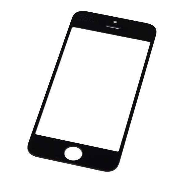 Стекло экрана iPhone 4/ iPhone 4S чёрное
