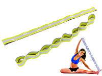Гимнастическая лента ELASTIBAND (8 петель) 75см лимонный