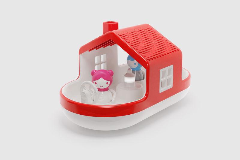 """Іграшка - сортер для гри у воді """"Плавучий Будинок"""" (звук і світло) для дітей від 1 року ТМ Kid O 10465"""