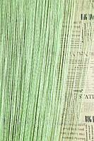 Нитяные шторы кисея Дождь салатовые (15)