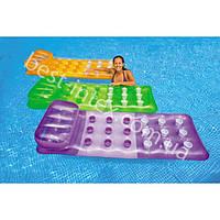 Пляжный надувной матрас Стаканчики Intex 58890 (188х71 см.)