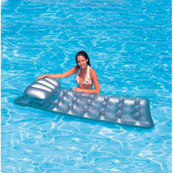 Пляжный надувной матрас Intex 58894 Серебристый (188х71 см.)