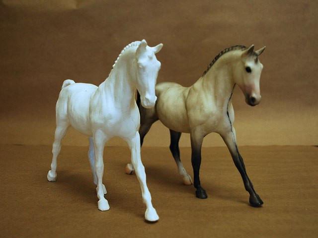 Лошадь готова для дальнейшей отделки
