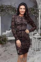 Гипюровое чёрное женское платье. 2 цвета.