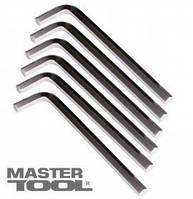 Mastertool Ключи шестигранные CV 3,0мм L20-98мм, 10шт, Арт.: 75-0003