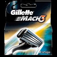 Gillette Mach 3 Оригинал Германия 100% 4 сменных головки в упаковке 4 лезвия картриджа