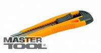 Mastertool Нож пластмассовая ручка +2 лезвия, автозамок, Арт.: 17-0106