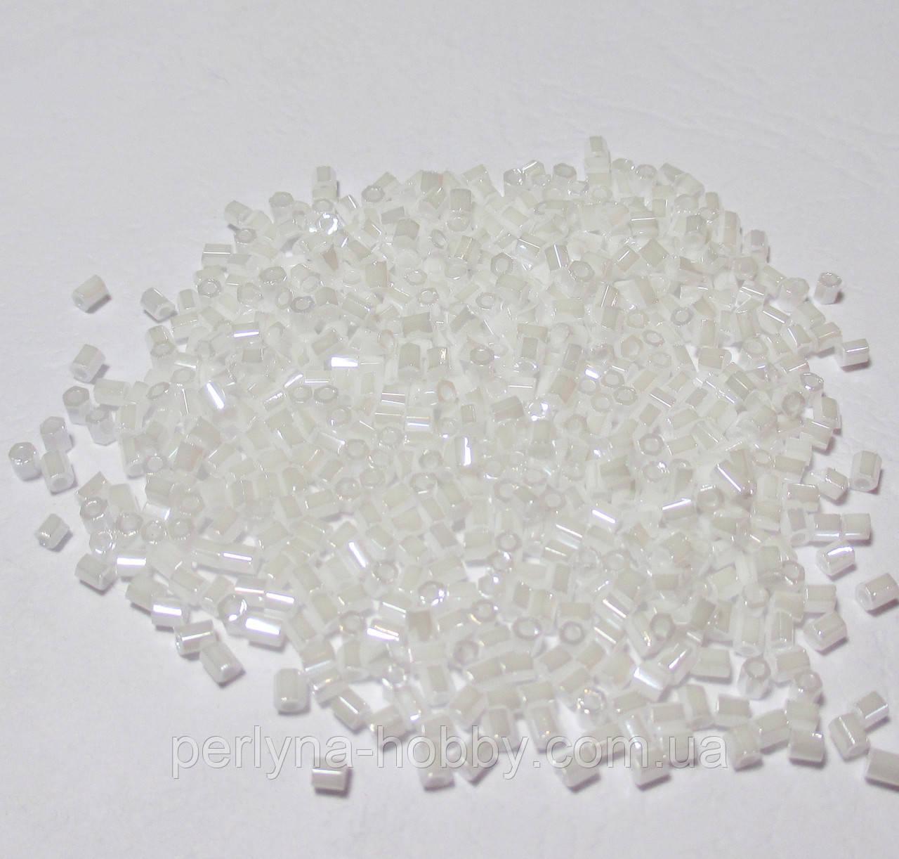 Бісер (бисер) MATSUNO Японія  рубка, 11/ 2 CUT 100 грам, № 334білий