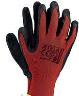 Нейлоновые перчатки с вспененным латексом  RTELA (REIS)