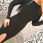 Женское платье, французский трикотаж, р-р 42-44; 44-46 (чёрный), фото 3