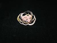 "Брошка-кулон ""букет роз"" из коралла"