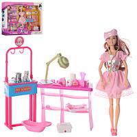 Кукла шарнирная 100-31 с набором доктора для лечения животных,2 фигурки животных