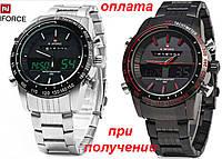 Чоловічі військові, спортивні годинник NAVIFORCE NF9024 Led ОРИГІНАЛ, фото 1