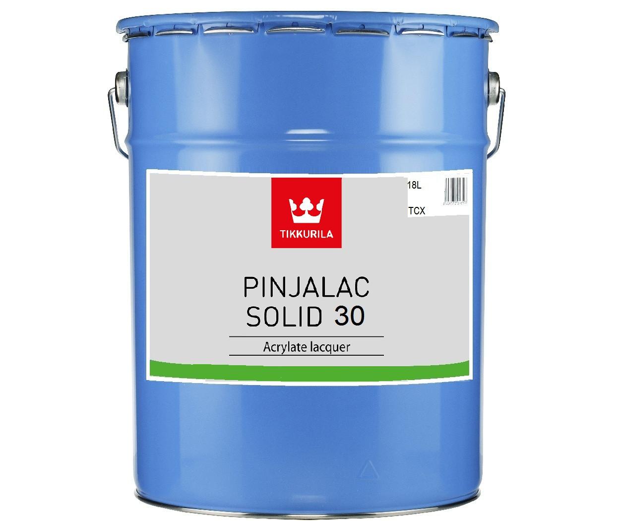 Лак акриловый TIKKURILA PINJALAC SOLID 30 для древесины, 18л