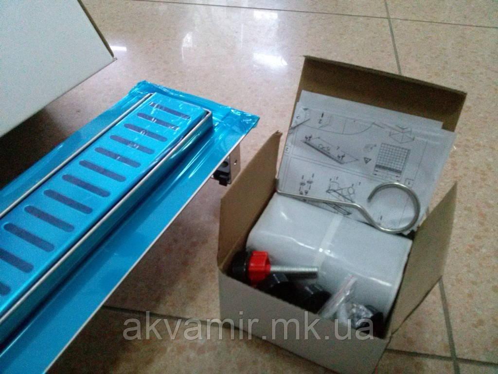 Душовий трап 90 см QT Hydro 900*960 CRM мокрий затвор (нерж. сталь)
