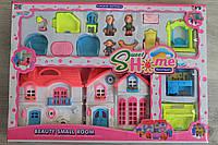 Домик для кукол и аксессуары коробка 52,5-37,5-6,5 см.
