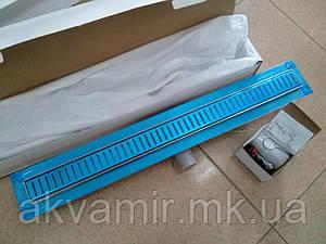 Душевой трап 80 см Q-Tap- 800*860 CRM с декоративной решеткой