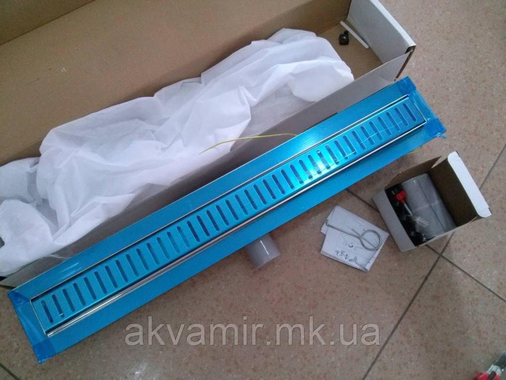 Душовий трап 70 см QT Hydro 700*760 CRM мокрий затвор (нерж. сталь)