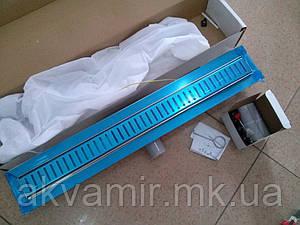 Душевой трап 70 см Q-Tap-700*760 CRM с декоративной решеткой