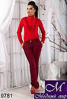 Стильные женские брюки цвета бордо (р.S, M, L, XL) арт.9781