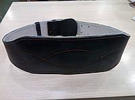 Атлетический качественный пояс из керзы черного цвета.