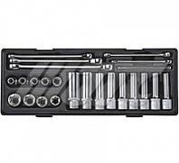 """Набор инструмента TORX ключи E6-E24, головки E10-E24 1/2"""" (24 ед.) (шт.)"""