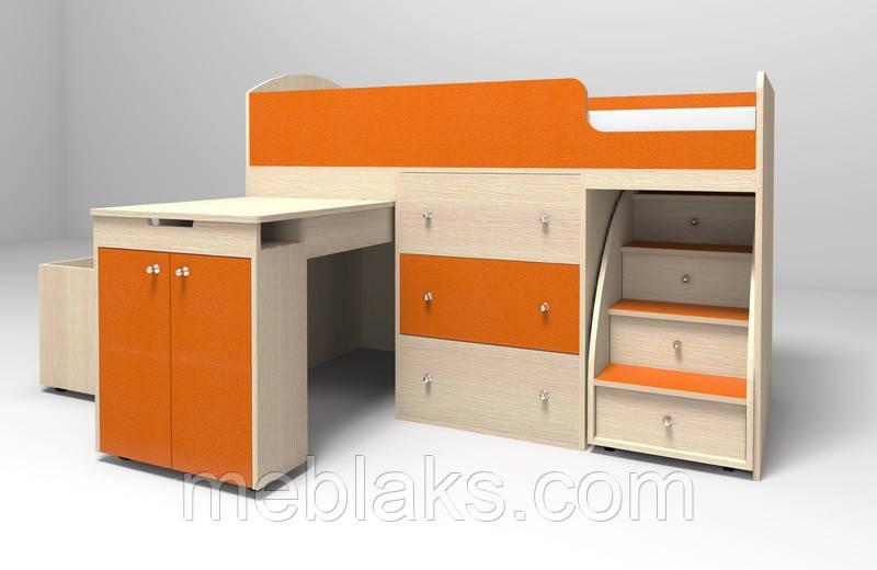 """Кровать-чердак """"Малыш"""" (от 2,5 до 10 лет) - Интернет - магазин мебели """"МЕБЛАKС"""" в Черкассах"""