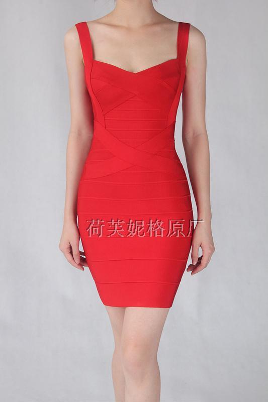 3ef6c854eed Бандажное платье Herve Leger черное и красное - NewMagazine в Харьковской  области