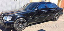 Ветровики окон Мерседес S-Класс W140 (дефлекторы боковых окон Mercedes S-Class W140)