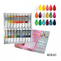 Перламутровые художественные акриловые краски. PCR-01_LeD