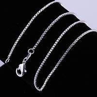 Цепочка жгутик женская тонкая Колорадо покрытие серебро