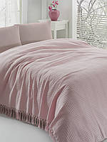 Покрывало с бахромой Eponj Home SAHESER (Pink)