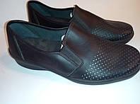 Туфли сабо черные кожаные р.39