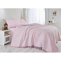 Покрывало с бахромой Eponj Home SAHESER (Pink L)