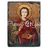 Деревянная икона Святой великомученик и целитель Пантелеймон, фото 4