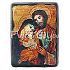 Деревянная икона Святое Семейство, 17х23 см., фото 4